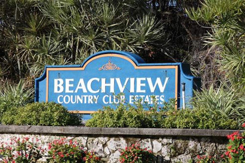Beachview-Country Club Sign